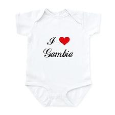I Love Gambia Onesie