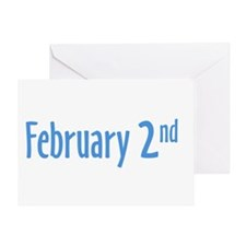 February 2nd Greeting Card