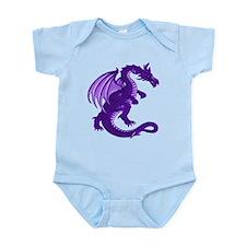 Purple Dragon Infant Creeper