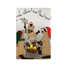 Black-Footed Ferret Holiday Rectangle Magnet