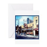 BLUES CAFE BEALE STREET Greeting Card