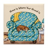 Home Hound Tile Coaster
