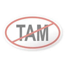 TAM Oval Decal