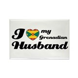 I love my Grenadian husband Rectangle Magnet (10 p