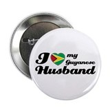 "I love my Guyanese husband 2.25"" Button"