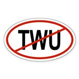 TWU Oval Decal