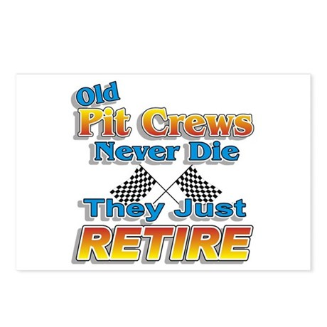 Old Pit Crews Never Die Postcards (Package of 8)
