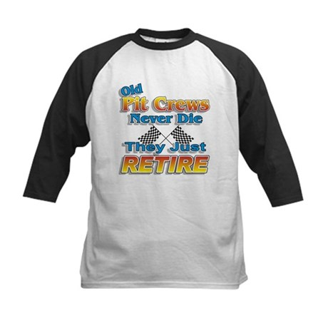 Old Pit Crews Never Die Kids Baseball Jersey