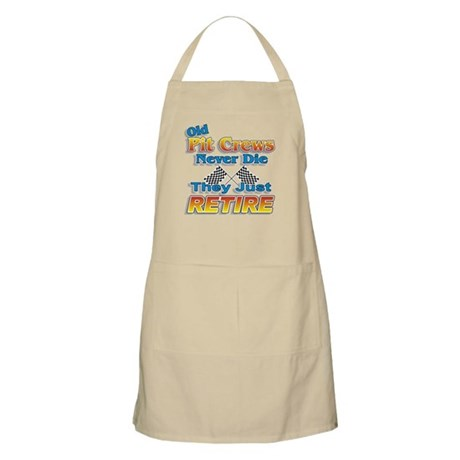 Old Pit Crews Never Die BBQ Apron