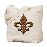 Faith Fleur de lis Tote Bag