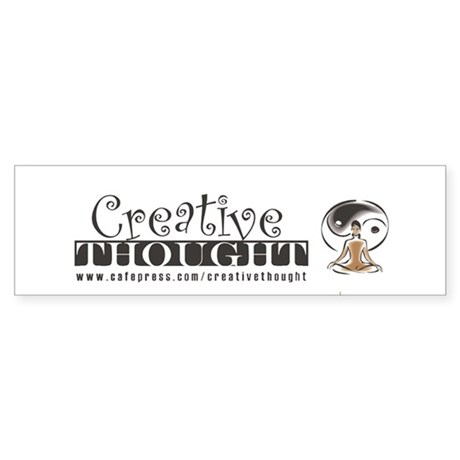 Creative Thought Graphic Bumper Sticker