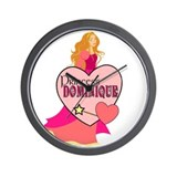 Princess Dominique Wall Clock