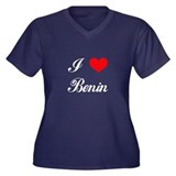 I Love Benin Women's Plus Size V-Neck Dark T-Shirt
