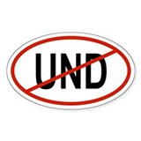 UND Oval Decal
