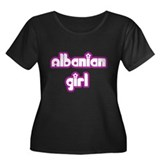 Albanian Girl Women's Plus Size Scoop Neck Dark T-