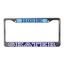 Ice Skater License Plate Frame