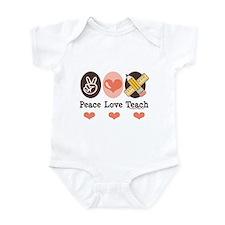 Peace Love Teach Teacher Infant Bodysuit