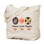 Peace Love Teach Teacher Tote Bag
