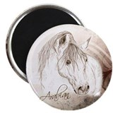 "Grey Arabian Stallion 2.25"" Magnet (10 pack)"