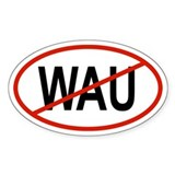 WAU Oval Decal