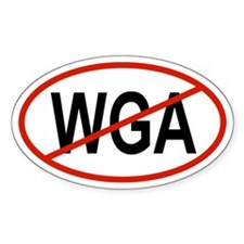 WGA Oval Decal
