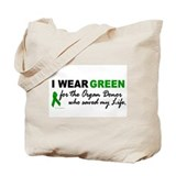 I Wear Green (Saved My Life) Tote Bag