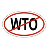 WTO Oval Decal