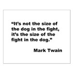 Mark Twain Dog Size Quote Small Poster
