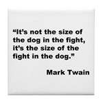 Mark Twain Dog Size Quote Tile Coaster