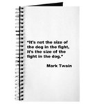 Mark Twain Dog Size Quote Journal