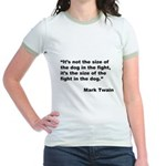 Mark Twain Dog Size Quote Jr. Ringer T-Shirt