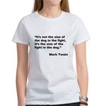 Mark Twain Dog Size Quote (Front) Women's T-Shirt