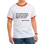 Mark Twain Dog Size Quote Ringer T