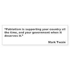 Mark Twain Quote on Patriotism Bumper Bumper Sticker
