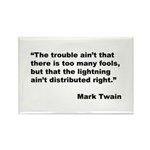 Mark Twain Quote on Fools Rectangle Magnet (10 pac