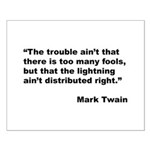 Mark Twain Quote on Fools Small Poster