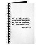 Mark Twain Quote on Fools Journal