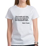 Mark Twain Quote on Fools (Front) Women's T-Shirt