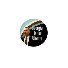 Georgia is for Obama Mini Button