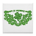 HAPPY ST PATS DAY GRAPHIC Tile Coaster
