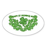 HAPPY ST PATS DAY GRAPHIC Oval Sticker