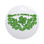 HAPPY ST PATS DAY GRAPHIC Ornament (Round)