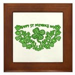 HAPPY ST PATS DAY GRAPHIC Framed Tile
