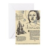 Unique Joan of arc Greeting Cards (Pk of 20)