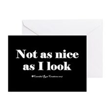 Just A Little Evil/black Greeting Cards (Pk of 10)