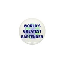 World's Greatest Bartender Mini Button (100 pack)