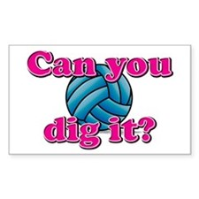 Can you dig it? Rectangle Decal