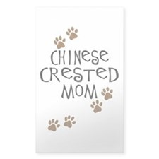 Chinese Crested Mom Rectangle Decal