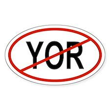 YOR Oval Stickers