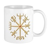 Gold Viking Compass (wide) Mug